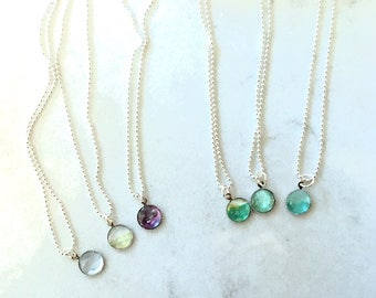 Watercolor necklace multiple color schemes miniature painting wearable art