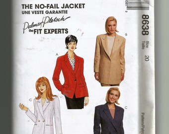 McCall's Misses' Lined Jacket Pattern 8638