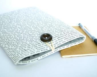 Kindle Case Cover Kindle Sleeve or custom eReader Case, Nook Glowlight Plus Case, Paperwhite Case or Tablet Case - Words