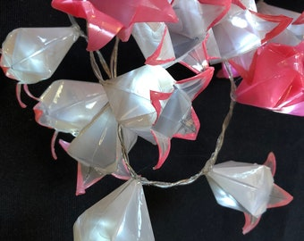 Origami harebell lights (50) Pink and White