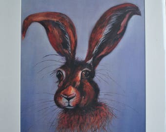 Mr Hare This is a high quality print taken from an oil painting I created of a hare.
