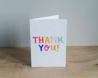 Illustrated 'Thank You' card