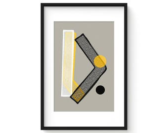 IN PIECES No.81 - Giclee Print - Abstract Geometric Mid Century Modern