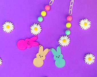 Spring Time Bunny Necklace