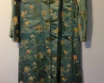 Vintage 1950s (?) satin kimono women's S