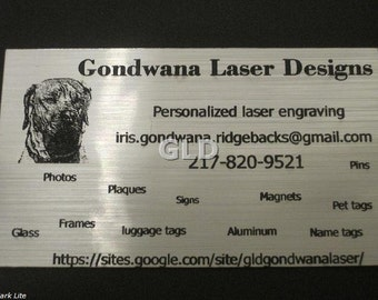 Personalized business magnet cards set of 32