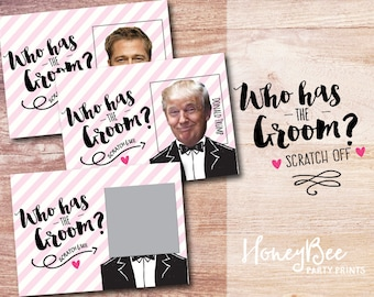 Who has the Groom? Scratch off Bridal Shower Game. Funny Bridal Shower Game