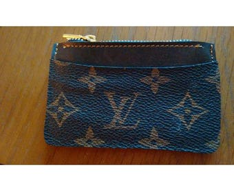 Louis Vuitton  Zip top Change , coin  Purse  ReCycled from  genuine lv bag fabric... for my USA customers