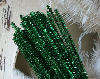 tinsel stems green wired crafts supplies trims party supplies christmas craft supplies kids crafts projects supply pipe cleaners art supply