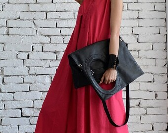 SALE Pink Maxi Dress / Extravagant Long Dress / Black Kaftan / Party Dress / Day Wear Dress by METAMORPHOZA