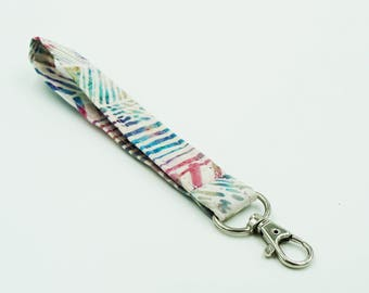 Blue and Pink Key Wristlet, Women's Key Fob