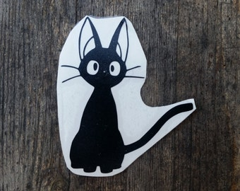 Jiji Vinyl Decal, Kiki's Delivery Service, Decal, Studio Ghibli