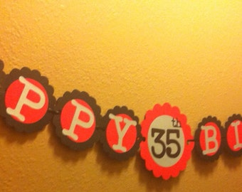 Birthday Decorations any Colors Personalization Available