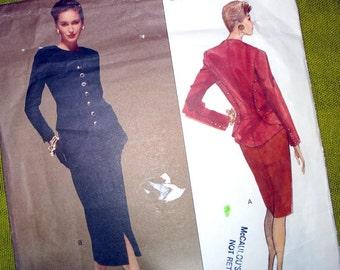 1990 Vogue Paris Original Sewing Pattern / Karl Lagerfeld / Vogue 2585 / Jacket and Dress / Vogue Designer Suit Pattern / UNCUT