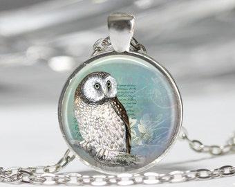 Owl Jewelry Owl Necklace Owl Glass Pendant Owl Necklace