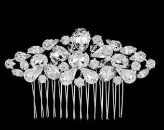 New Bridal Gorgeous  CZ Crystal Cluster Hair Comb