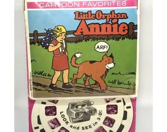 1978 3D View Master Little Orphan Annie Cartoon Favorites Reel Set Sealed