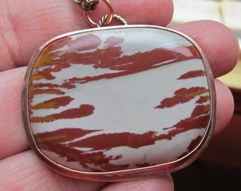 Native American Inspired Picture Jasper Copper Pendant