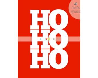 Christmas Holiday Subway Art . Ho Ho Ho Seasonal Poster Print  . Festive Home Decor . Peppermint Red Green . Hostess Gift . Children Kids