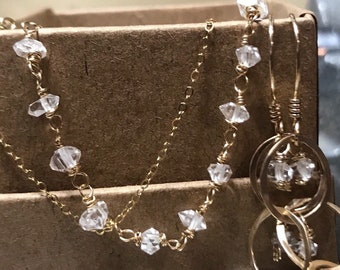 Sparkalicious herkimer diamond necklace