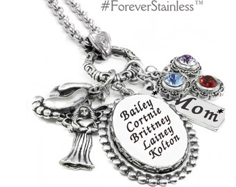 Personalized Necklace - Mothers Jewelry - Children's Names - Nana Jewelry