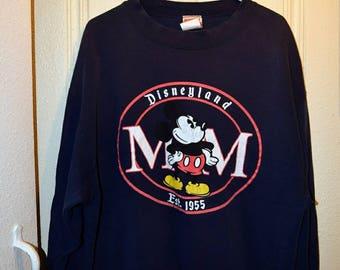 Navy Blue Mickey Mouse Disneyland Sweatshirt