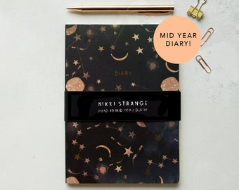 A5 Stars & Constellations Mid year Diary (July 2018-August 2019)