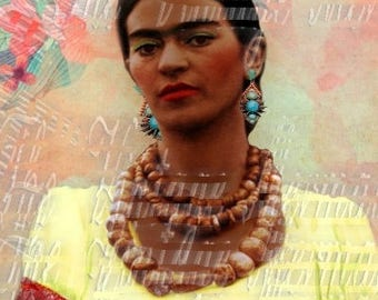 Pretty Frida Kahlo Fabric Art Cotton Panel Quilt Block Crafts Fk197a