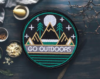 """Go Outdoors Hiking Patch 
