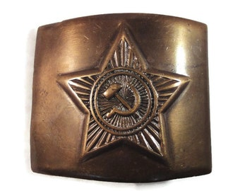 Soviet Army Military Uniform Belt Buckle