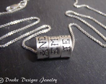 Tattoo custom name necklace sterling silver necklace with kids names gift for mom