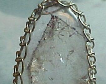 Agape Crystal Sacred Seven Sterling Wire Art Pendant Great for Awakening and Enhancing Spiritual Communication lw003