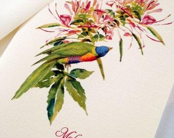 Greeting Cards, Note Cards, Stationery, Card Set, Personalized Card, Bird Card, Set of 8