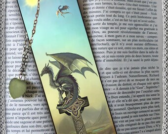 """Laminated bookmarks, """"The age of the dragon"""", cheap gift idea"""