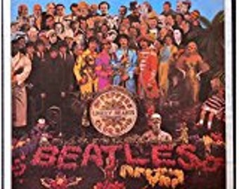 The Beatles - Sgt. Pepper's Lonely Hearts Club Band - Vintage Album Cover Poster