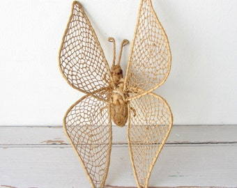 Vintage Woven Butterfly Home Decor