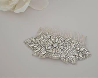 FLORIANA Large Crystal Vintage Inspired Bridal Hair Comb