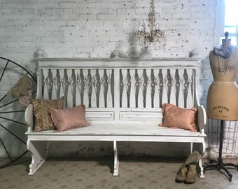 Painted Cottage Prairie Chic Hand Painted Bench