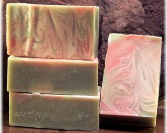 Peppermint Wow Handmade Cold Process Soap with Essential Oils  - One Bar