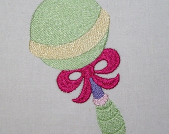 Machine Embroidery Design- 4x4 Hoop or larger-Baby-Toddler Design #08-Rattle