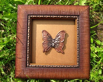 Colourful butterfly, butterfly wing art, brown butterfly, 3d butterfly art, real butterfly wings, 3d butterfly, 3d butterfly wall