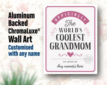 Grandmom Gift, For New Grandmom! Birthday Gift For Grandmom! Grandmom To Be, Grandmom Print, Picture Frame, Personalized, Delivered To You!