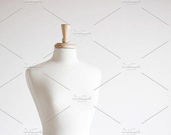 Styled Stock Photo | White Mannequin (Wide) | Blog stock photo, stock image, stock photography, blog photography