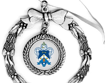 Kappa Kappa Gamma Pewter Holiday Ornament