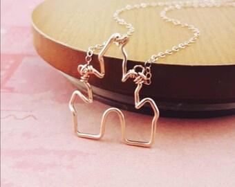 Castle Necklace, Disney Necklace, Disney Gift, Disney Jewelry, Jewelry Gifts for Girls, Disney Gifts for Her, Magic Kingdom, Disney Adult