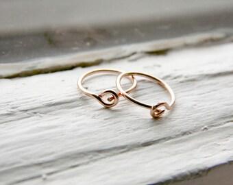 Tragus Hoop Earrings 14k Rose Gold Fill