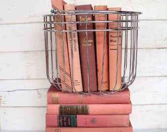 Pink Books Instant Library Collection Decorative Books Photography Props Blush, Rose Shabby Chic