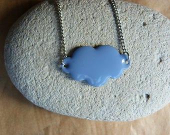 """Cloud Cult"" blue purple cloud pendant necklace"