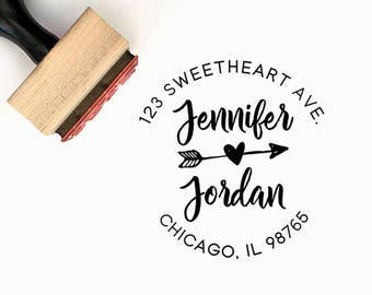 Custom Personalized Return Address Pre-Designed Rubber Stamp - Branding, Packaging, Party, Invitations, Tags, Wedding - A037