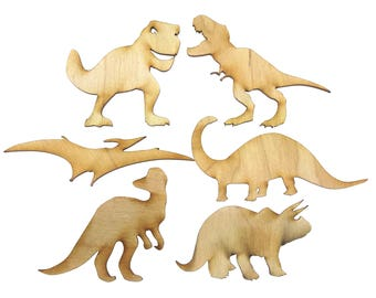 Set of 6 Dinosaur Shapes - Arts & Crafts - Ideal for Childrens Projects